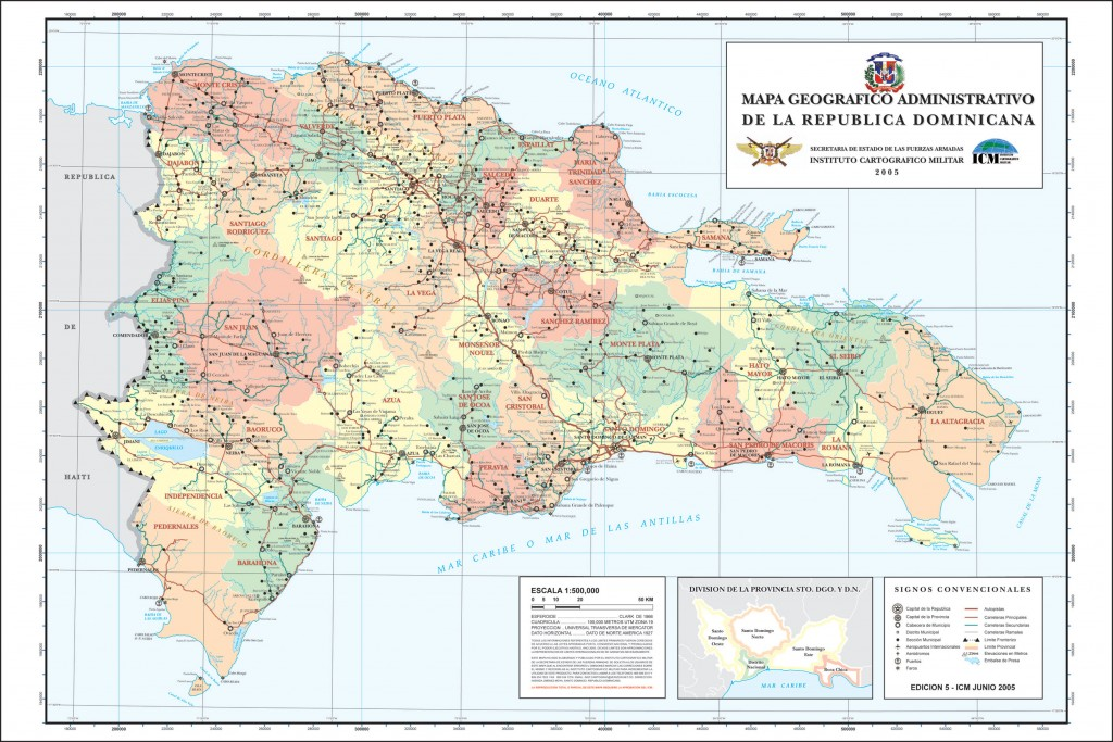 Carte republique dominicaine
