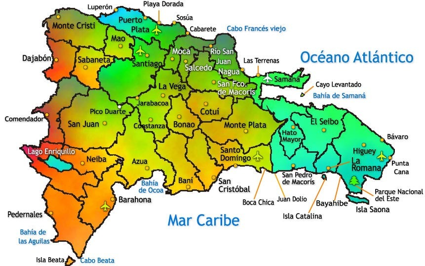 carte province république dominicaine